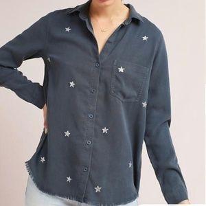 Anthro Cloth & Stone Button Down Stargazer Shirt